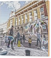 London Bubbles B Wood Print