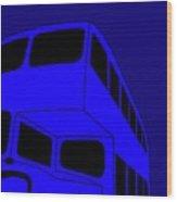 London bus is blue Wood Print