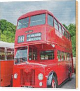 London Bus Wood Print