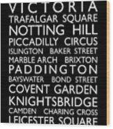 London Bus Roll Wood Print by Michael Tompsett