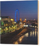 London By Night Wood Print