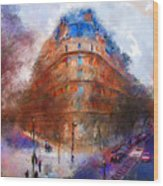 London Central Wood Print by Marilyn Sholin