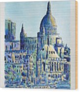 London City St Paul's Cathedral Wood Print