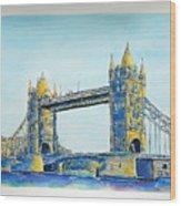 London City Tower Bridge Wood Print