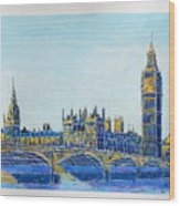 London City Westminster Wood Print