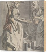 London Cries - A Milkmaid Wood Print