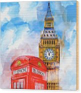 London Dreaming Wood Print