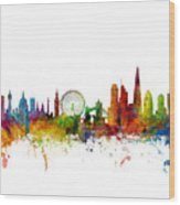 London England Skyline 16x20 Ratio Wood Print