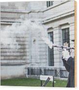 London Explosion 2 Wood Print
