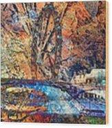 London Eye Abstract Wood Print