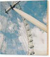 London Eye Ferris Wheel Wood Print by Andy Smy