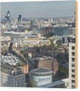 London Eye View- 2 Wood Print