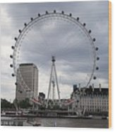 London Eye View Wood Print