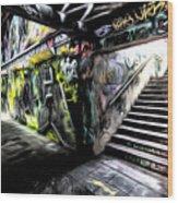 London Graffiti Art Wood Print