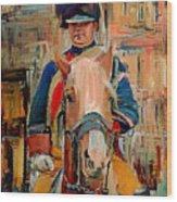 London Guard On Horse Wood Print