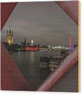 London In My Window Wood Print