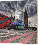 London In One Picture Wood Print