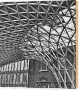 London Kings Cross  Wood Print