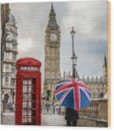 London Lady Wood Print