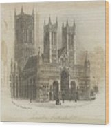 London Lincoln Cathedral. Wood Print