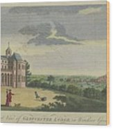 London Magazine, London South East View Of Gloucester Lodge In Windsor Great Park Published Aug 1780 Wood Print