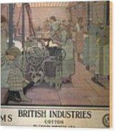 London Midland And Scottish Railway, British Industries - Retro Travel Poster - Vintage Poster Wood Print