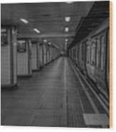 London Mile End Station Wood Print