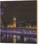 London Nights Wood Print