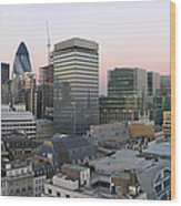 London Panorama From The Monument Wood Print