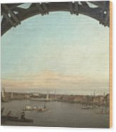 London Seen Through An Arch Of Westminster Bridge Wood Print