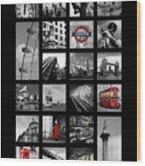 London Squares Wood Print