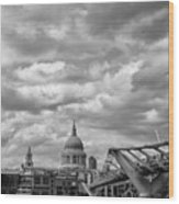London - St. Pauls Cathedrale Wood Print