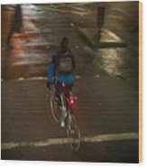 London Streets In Cold Whether . Wood Print