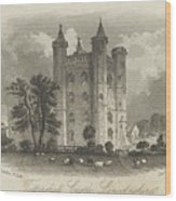 London Tattershall Castle, Lincolnshire. Published 1 Dec 1849 Wood Print