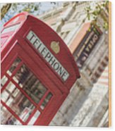 London Telephone 3 Wood Print