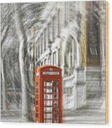 London Telephone C Wood Print