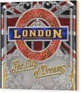 London Town Wood Print