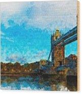 London Unveiled Wood Print