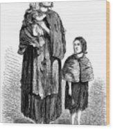 London, Vagrants, 1861 Wood Print