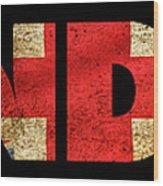 London Vintage British Flag Tee Wood Print