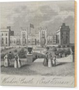 London Windsor Castle East Terrace, The Queen's Private Apartments Wood Print