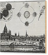 London With Eclipse Diagram, 1748 Wood Print