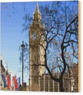London's Big Ben Wood Print