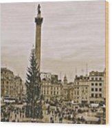 London's Trafalgar Square Wood Print