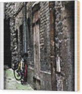Lone Bike In France Wood Print