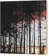 Lone Butte Sunset Wood Print