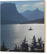 Lone Glare Wood Print