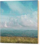 Lone Post Wood Print