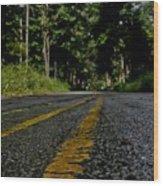 Lone Road Wood Print