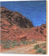 Lone Rock Road Paint  Wood Print